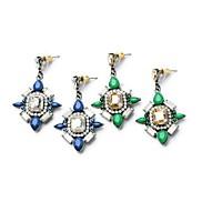 Special Geometric Shape Alloy Drop Earrings (Blue,Green) (1 Pair)