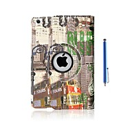 Statue of Liberty and Street View Pattern PU Leather Full Body Case with Stand and Capacitance Pen for iPad mini/ mini2