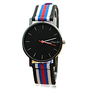 Unisex's Fashion Style Round Dial Fabric Band Quartz Wrist Watch(Assorted Colors)
