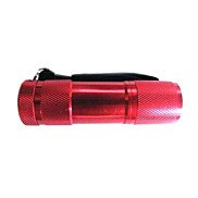 9 Light Textured LED 1 Mode Flashlight Camping Lamp (80 LM 3XAAA Red)