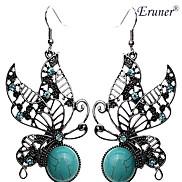 Eruner®Vintage Butterfly Grreen Turquoise Earrings