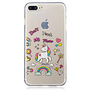 For Apple iPhone 7 7 Plus 6S 6 Plus SE 5S 5 Unicorn Pattern Painted High Penetration TPU Material IMD Process Soft Case Phone Case