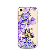 Case for iPhone 7 Plus 7 Cover Transparent Pattern Back Cover Case Butterfly Flower Soft TPU for Apple iPhone 6s plus 6 Plus 6s 6 SE 5s 5c 5 4s 4