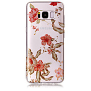 Case For Samsung Galaxy S8 Plus S8 Phone Case TPU Material IMD Process Morning Glory Pattern HD Flash Powder Phone Case S7 Edge S7 S6 Edge S6