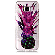 Case For Samsung Galaxy S8 Plus S8 Phone Case TPU Material IMD Process Pineapple Pattern HD Flash Powder Phone Case S7 Edge S7 S6 Edge S6