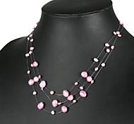 elegante rosa Perlenkette (lsp034)