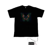 suono e la musica attivato el t-shirt ballerino visualizzatore vu spettro (2 * aaa)