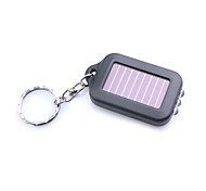 3-LED White Light Solar Powered Self-Recharge Flashlight Keychain -Black(5-Pack)