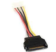 SATA 4P Female to 15P Serial ATA SATA Power Adapter Cable 0.15M