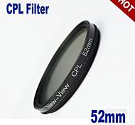 52mm nueva visión polarizador slim cpl lpf circular del filtro
