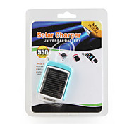 550mAh Portable Solar Charger, Universal Battery(Blue)