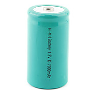 Ni-MH batería recargable 1.2v 7000mah verde