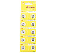 AG6 371A 1.55V High Capacity Alkaline Button Cell Batteries (10-pack)