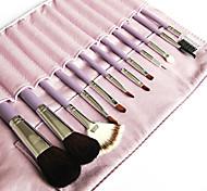 schönen lila Make-up Pinsel mit freiem Ledertasche (12 Farben)