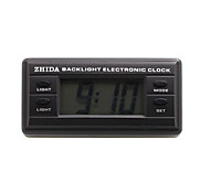 Automotive Electronic Clock with Blue Backlight - Black - ZD-06B