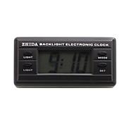 Automobil-Elektronik-Uhr mit blauer Hintergrundbeleuchtung - schwarz - zd-06b