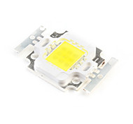 DIY 10W 750-850LM 6000-6500K Natural White Light Square LED Emitter (3 Series 3 In Parallel, 30-33V)