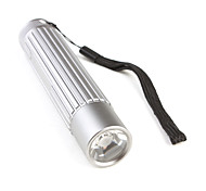 3W LED Lens Flashlight 3XAAA Silver