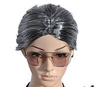 Capless Old Lady Costume Party Festival Hair Wig