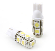 T10 1.5W 9x5050 SMD White Light LED Bulb for Car Turning Signal Lamp 2-Pack)
