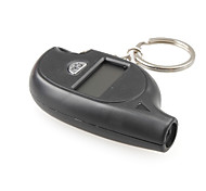 "Mini Portable 0.8"" LCD Digital Tire Pressure Gauge Keychain - Black (1*CR2025)"