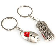 Key Chain Mouse / keyboard Cartoon Key Chain Metal