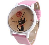 Cartoon Cat Women's and Girl's Watch Pink Watchband