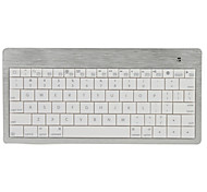 Ultra-Slim Wireless Bluetooth V2.0 Rechargeable Keyboard (Silver)
