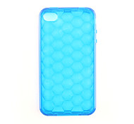Protective Soft Silica Gel Transparent Case for iPhone4G (Blue)