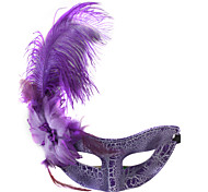 Ostrich Feathers Masquerade Mask Random Ship With Pink And Purple