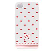 Schutz Spotmuster ultradünnen zurück Fall für iPhone4G (roter Punkt)