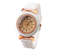 Fashion Silicone Band Quartz Wrist Watch For Women(White) Cool Watches Unique Watches
