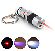 3 in 1 rivelatore UV + LASER + LED portachiavi portachiavi - nero