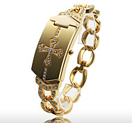 Women's Fashionable Gold Alloy Quartz Bracelet Watch