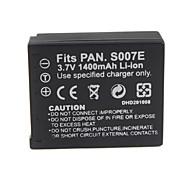 1400mAh batería de la cámara s007/bcd10 para Panasonic Lumix DMC-TZ1 serie