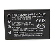1200mAh 3.7V Digital Camera Battery KLIC-5000(FNP60) for KODAK DX7440 and More
