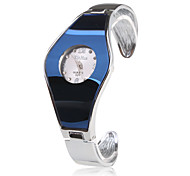 Stainless Steel Bracelet Band Wrist Watch - Blue