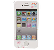 Schutzmaßnahmen Cartoon zurück und vor Case für iPhone 4 / 4s (rosa Bär)