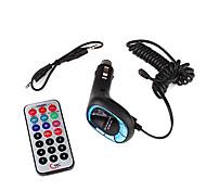 "1.0"" LCD Car MP3 Player FM Transmitter - Blue (SD/TF/USB)"