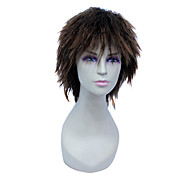 Capless Short High Temperature Wire Brown Natural Wave Hair Wig