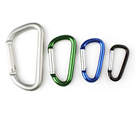 D-character Shaped Aluminum Carabiner (Random Color)