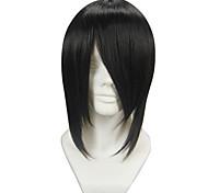 Parrucche Cosplay Il maggiordomo diabilico Sebastian Michaelis Nero Corto Anime Parrucche Cosplay 35 CM Tessuno resistente a calore Uomo