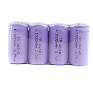 Soshine 3.0V CR123A Batteries with Translucent Protective Case (Purple 2-Pack)