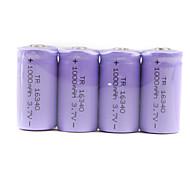soshine 3.0V batterie CR123A con custodia protettiva trasparente (viola 2-pack)