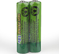 1.6V 900mAh High Voltage Rechargeable Battery (2 x AAA)