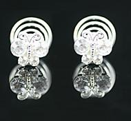 2 piezas magníficas de los rhinestones alfileres de novia tocados de boda / partido