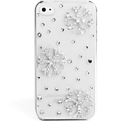 Fashionable Diamond Case for iPhone 4 / 4S (Snowflake, Handmade)