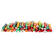 50 piezas en 3D de caña de palo etiqueta barra de uñas de arte fruto de decoración, juegos de