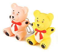 Bear Keychain with LED Flashlight and Sound Effects (Assorted color)