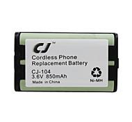 3.6V 850mAh Cordless Phone Replacement Ni-MH Battery CJ-104